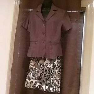 Danny & Nicole size 16 2 piece set jacket/skirt
